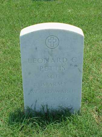 PETTIS (VETERAN WWII), LEONARD C - Pulaski County, Arkansas | LEONARD C PETTIS (VETERAN WWII) - Arkansas Gravestone Photos