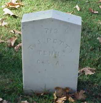 PETTY (VETERAN CSA), T J - Pulaski County, Arkansas | T J PETTY (VETERAN CSA) - Arkansas Gravestone Photos