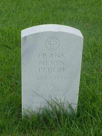 PEUGH (VETERAN WWI), FRANK NEVIN - Pulaski County, Arkansas | FRANK NEVIN PEUGH (VETERAN WWI) - Arkansas Gravestone Photos