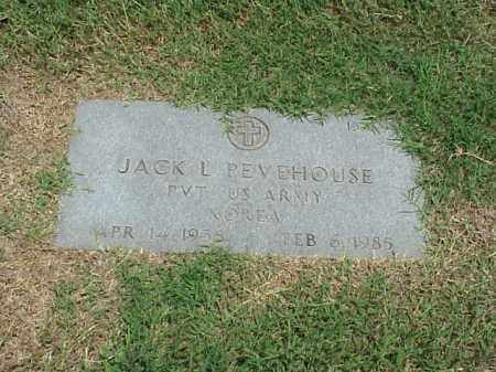 PEVEHOUSE (VETERAN KOR), JACK L - Pulaski County, Arkansas | JACK L PEVEHOUSE (VETERAN KOR) - Arkansas Gravestone Photos