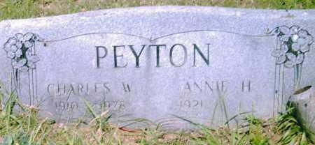 PEYTON, CHARLES  W. - Pulaski County, Arkansas | CHARLES  W. PEYTON - Arkansas Gravestone Photos