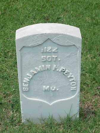 PEYTON (VETERAN UNION), BENJAMIN F - Pulaski County, Arkansas | BENJAMIN F PEYTON (VETERAN UNION) - Arkansas Gravestone Photos