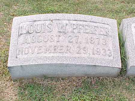 PFEIFER, LOUIS W - Pulaski County, Arkansas | LOUIS W PFEIFER - Arkansas Gravestone Photos