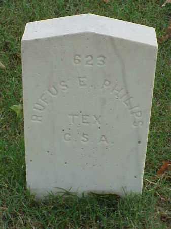 PHILIPS (VETERAN CSA), RUFUS E - Pulaski County, Arkansas | RUFUS E PHILIPS (VETERAN CSA) - Arkansas Gravestone Photos