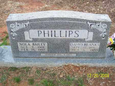 PHILLIPS, DAVID BLANKS - Pulaski County, Arkansas | DAVID BLANKS PHILLIPS - Arkansas Gravestone Photos