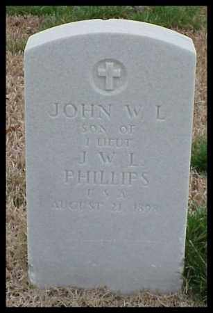 PHILLIPS, JOHN W L - Pulaski County, Arkansas | JOHN W L PHILLIPS - Arkansas Gravestone Photos