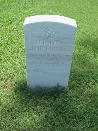 PHILLIPS, SR (VETERAN WWII), CLIFTON - Pulaski County, Arkansas | CLIFTON PHILLIPS, SR (VETERAN WWII) - Arkansas Gravestone Photos