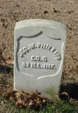 PHILLIPS (VETERAN UNION), GEORGE W - Pulaski County, Arkansas | GEORGE W PHILLIPS (VETERAN UNION) - Arkansas Gravestone Photos