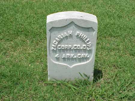 PHILLIPS (VETERAN UNION), ZACARIAH - Pulaski County, Arkansas | ZACARIAH PHILLIPS (VETERAN UNION) - Arkansas Gravestone Photos