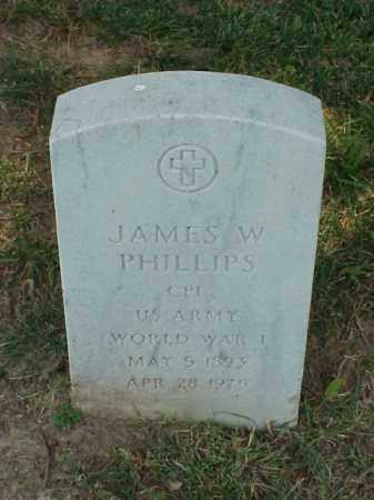 PHILLIPS (VETERAN WWI), JAMES W - Pulaski County, Arkansas | JAMES W PHILLIPS (VETERAN WWI) - Arkansas Gravestone Photos