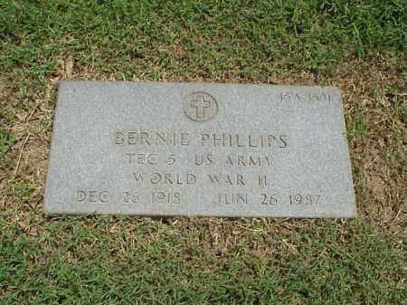 PHILLIPS (VETERAN WWII), BERNIE - Pulaski County, Arkansas | BERNIE PHILLIPS (VETERAN WWII) - Arkansas Gravestone Photos