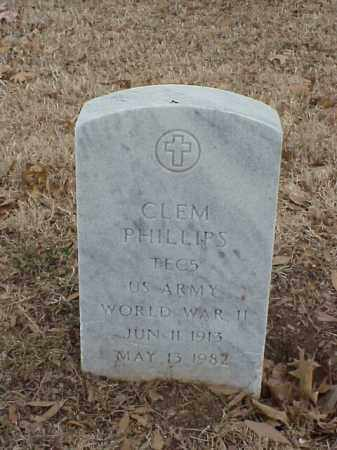 PHILLIPS (VETERAN WWII), CLEM - Pulaski County, Arkansas | CLEM PHILLIPS (VETERAN WWII) - Arkansas Gravestone Photos
