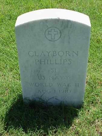 PHILLIPS (VETERAN WWII), CLAYBORN - Pulaski County, Arkansas | CLAYBORN PHILLIPS (VETERAN WWII) - Arkansas Gravestone Photos