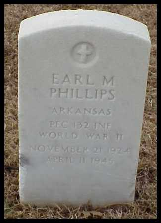 PHILLIPS (VETERAN WWII), EARL M - Pulaski County, Arkansas | EARL M PHILLIPS (VETERAN WWII) - Arkansas Gravestone Photos