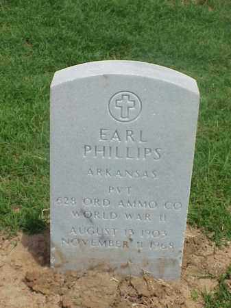 PHILLIPS (VETERAN WWII), EARL - Pulaski County, Arkansas | EARL PHILLIPS (VETERAN WWII) - Arkansas Gravestone Photos
