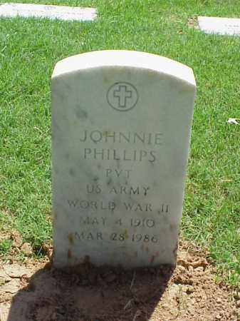 PHILLIPS (VETERAN WWII), JOHNNIE - Pulaski County, Arkansas | JOHNNIE PHILLIPS (VETERAN WWII) - Arkansas Gravestone Photos