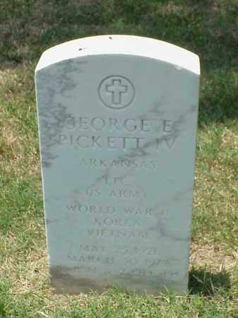 PICKETT IV (VETERAN 3 WARS), GEORGE E - Pulaski County, Arkansas | GEORGE E PICKETT IV (VETERAN 3 WARS) - Arkansas Gravestone Photos