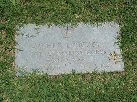 PICKETT (VETERAN WWII), ARTHUR L - Pulaski County, Arkansas | ARTHUR L PICKETT (VETERAN WWII) - Arkansas Gravestone Photos