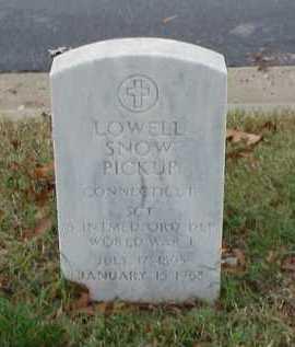 PICKUP (VETERAN WWI), LOWELL SNOW - Pulaski County, Arkansas | LOWELL SNOW PICKUP (VETERAN WWI) - Arkansas Gravestone Photos