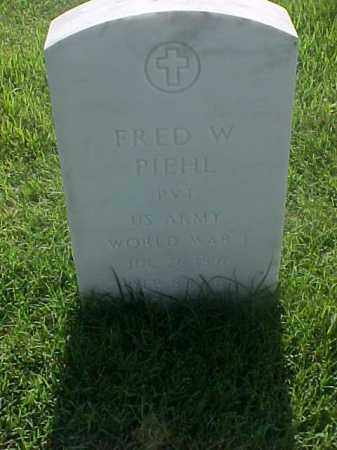 PIEHL (VETERAN WWI), FRED W - Pulaski County, Arkansas | FRED W PIEHL (VETERAN WWI) - Arkansas Gravestone Photos