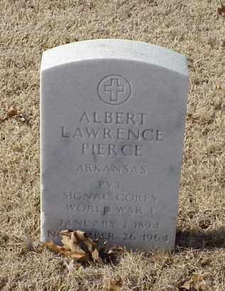 PIERCE (VETERAN WWI), ALBERT LAWRENCE - Pulaski County, Arkansas | ALBERT LAWRENCE PIERCE (VETERAN WWI) - Arkansas Gravestone Photos