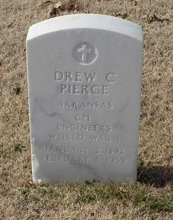 PIERCE (VETERAN WWI), DREW C - Pulaski County, Arkansas | DREW C PIERCE (VETERAN WWI) - Arkansas Gravestone Photos