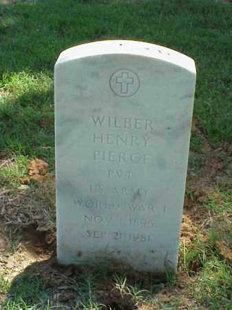 PIERCE (VETERAN WWI), WILBER HENRY - Pulaski County, Arkansas | WILBER HENRY PIERCE (VETERAN WWI) - Arkansas Gravestone Photos