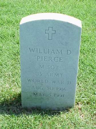 PIERCE (VETERAN WWII), WILLIAM D - Pulaski County, Arkansas | WILLIAM D PIERCE (VETERAN WWII) - Arkansas Gravestone Photos