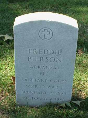 PIERSON (VETERAN WWI), FREDDIE - Pulaski County, Arkansas | FREDDIE PIERSON (VETERAN WWI) - Arkansas Gravestone Photos