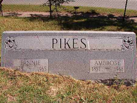 PIKES, FANNIE - Pulaski County, Arkansas | FANNIE PIKES - Arkansas Gravestone Photos