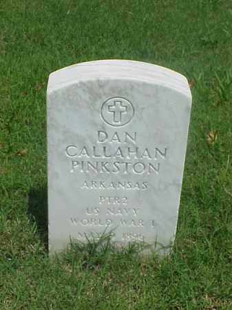 PINKSTON (VETERAN WWI), DAN CALLAHAN - Pulaski County, Arkansas | DAN CALLAHAN PINKSTON (VETERAN WWI) - Arkansas Gravestone Photos