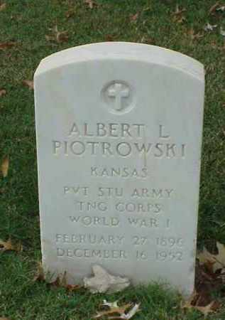 PIOTROWSHI (VETERAN WWI), ALBERT L - Pulaski County, Arkansas | ALBERT L PIOTROWSHI (VETERAN WWI) - Arkansas Gravestone Photos
