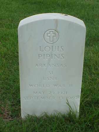 PIPINS (VETERAN WWII), LOUIS - Pulaski County, Arkansas | LOUIS PIPINS (VETERAN WWII) - Arkansas Gravestone Photos