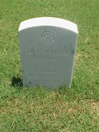 PIPKINS (VETERAN WWII), HERSCHELL - Pulaski County, Arkansas | HERSCHELL PIPKINS (VETERAN WWII) - Arkansas Gravestone Photos