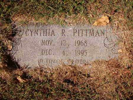PITTMAN, CYNTHIA R - Pulaski County, Arkansas | CYNTHIA R PITTMAN - Arkansas Gravestone Photos