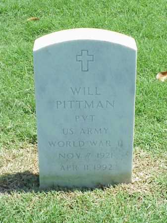 PITTMAN (VETERAN WWII), WILL - Pulaski County, Arkansas | WILL PITTMAN (VETERAN WWII) - Arkansas Gravestone Photos