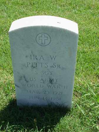 PITTS, SR (VETERAN WWII), IRA W - Pulaski County, Arkansas | IRA W PITTS, SR (VETERAN WWII) - Arkansas Gravestone Photos