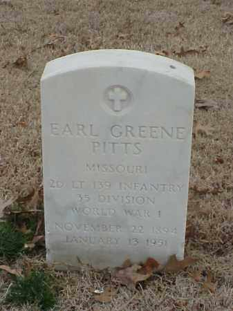 PITTS (VETERAN WWI), EARL GREENE - Pulaski County, Arkansas | EARL GREENE PITTS (VETERAN WWI) - Arkansas Gravestone Photos