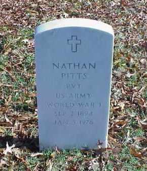 PITTS (VETERAN WWI), NATHAN - Pulaski County, Arkansas | NATHAN PITTS (VETERAN WWI) - Arkansas Gravestone Photos