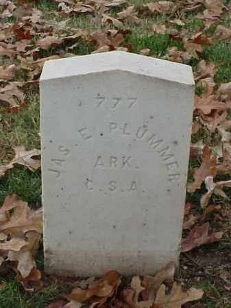 PLUMMER (VETERAN CSA), JAMES E - Pulaski County, Arkansas | JAMES E PLUMMER (VETERAN CSA) - Arkansas Gravestone Photos