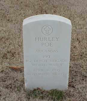 POE  (VETERAN WWI), HURLEY - Pulaski County, Arkansas | HURLEY POE  (VETERAN WWI) - Arkansas Gravestone Photos