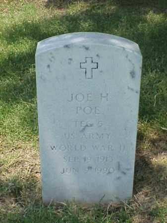POE (VETERAN WWII), JOE H - Pulaski County, Arkansas | JOE H POE (VETERAN WWII) - Arkansas Gravestone Photos