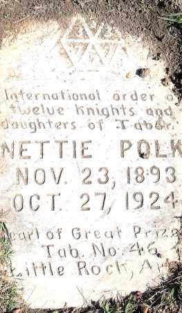 POLK, NETTIE - Pulaski County, Arkansas | NETTIE POLK - Arkansas Gravestone Photos