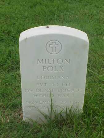 POLK (VETERAN WWI), MILTON - Pulaski County, Arkansas | MILTON POLK (VETERAN WWI) - Arkansas Gravestone Photos