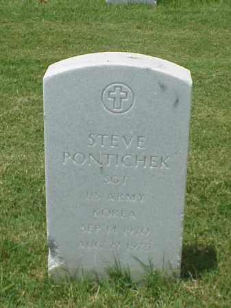 PONTICHEK (VETERAN KOR), STEVE - Pulaski County, Arkansas | STEVE PONTICHEK (VETERAN KOR) - Arkansas Gravestone Photos