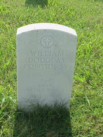 PONTIUS, SR (VETERAN WWII), WILLIAM DOUGLAS - Pulaski County, Arkansas | WILLIAM DOUGLAS PONTIUS, SR (VETERAN WWII) - Arkansas Gravestone Photos