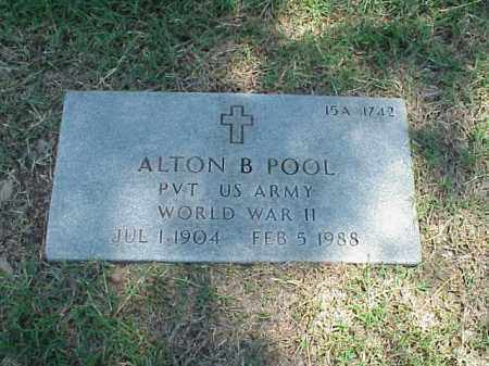 POOL (VETERAN WWII), ALTON B - Pulaski County, Arkansas | ALTON B POOL (VETERAN WWII) - Arkansas Gravestone Photos