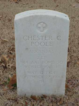 POOLE (VETERAN WWII), CHESTER C - Pulaski County, Arkansas | CHESTER C POOLE (VETERAN WWII) - Arkansas Gravestone Photos