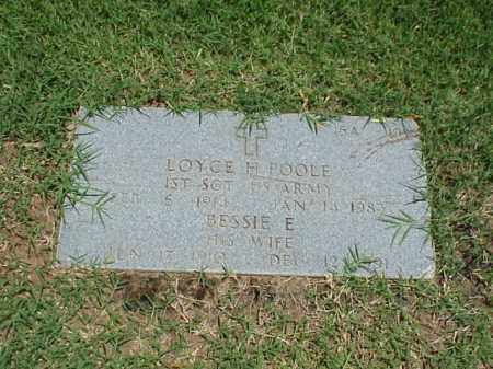 POOLE (VETERAN WWII), LOYCE H - Pulaski County, Arkansas | LOYCE H POOLE (VETERAN WWII) - Arkansas Gravestone Photos