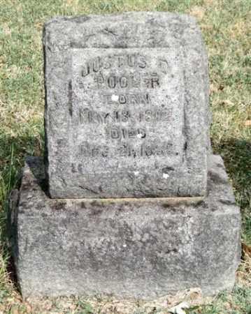 POOLER, JUSTUS D. - Pulaski County, Arkansas | JUSTUS D. POOLER - Arkansas Gravestone Photos